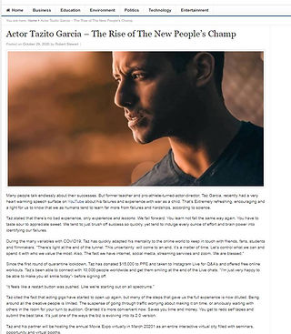 Tazito Garcia - Actor| Canadaian Actors | People's Champ | New Marvel Movies