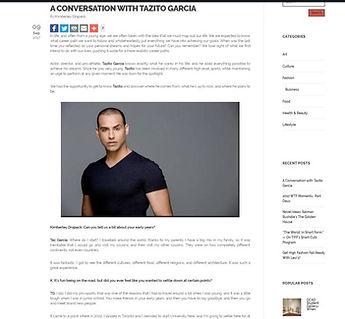 Tazito Garcia Novella Magazine