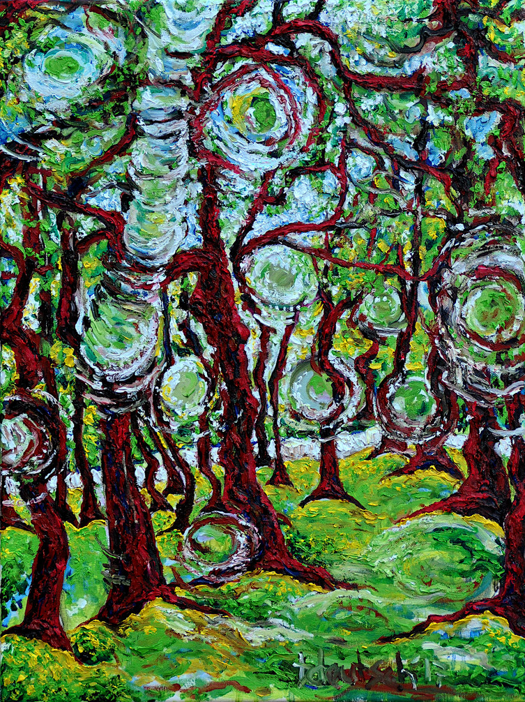 Forest Reign $700, 18 x 24 Oil on Canvas