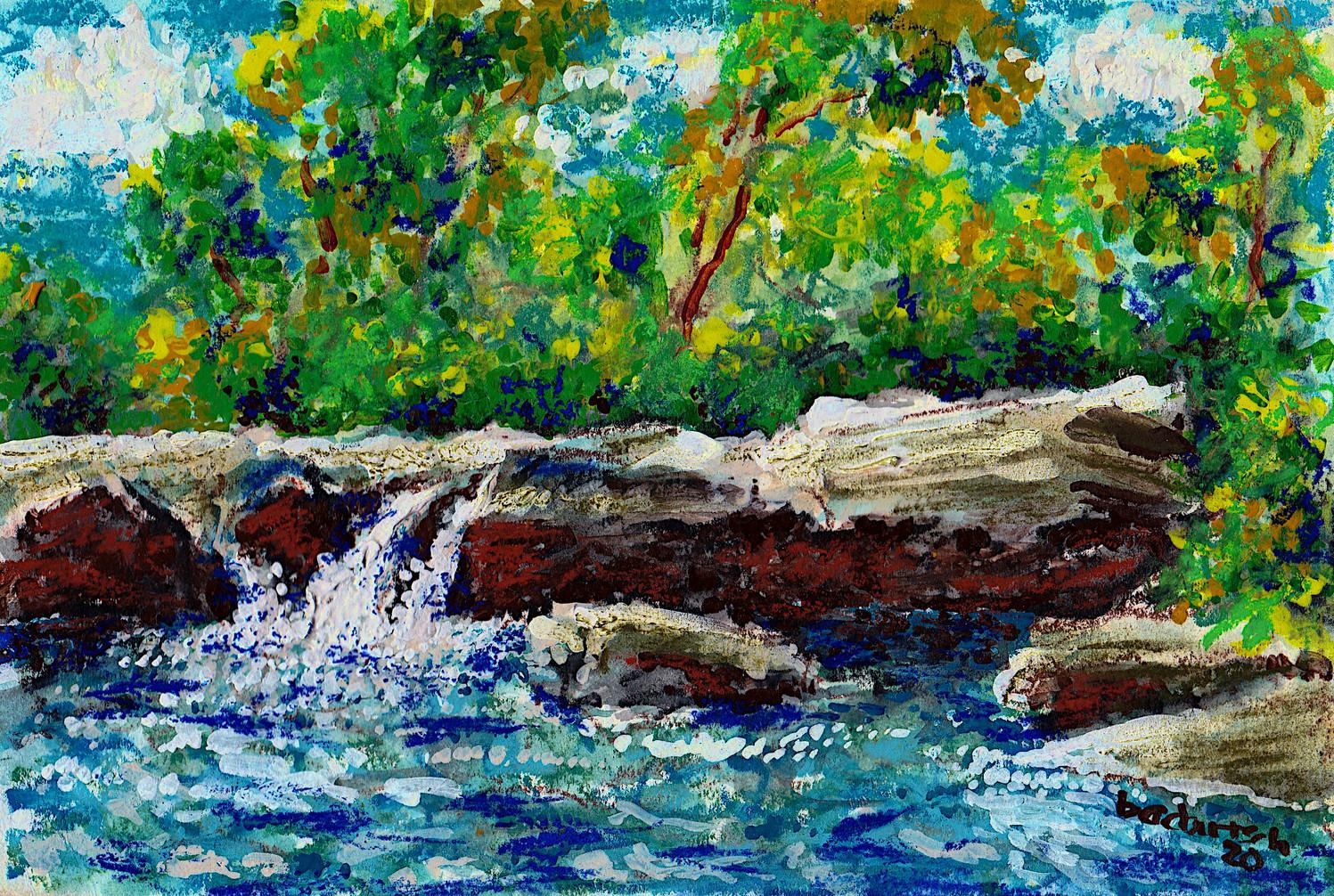 McKinney Falls $125, 6x9 in WC/Pastel