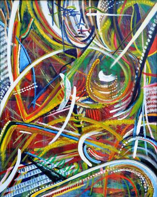Sitting Dancer $1,100 Oil on Canvas 24 x 30 in.