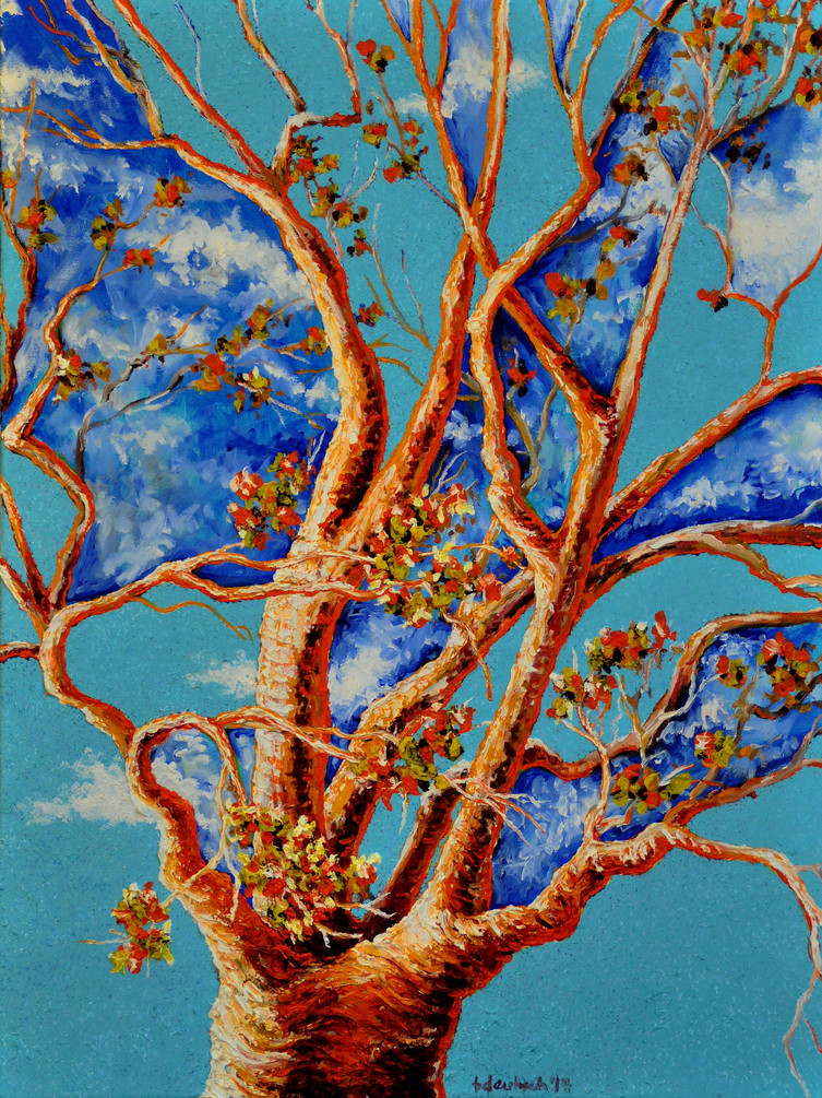 Joy Tree $700, 18 x 24 Oil on Canvas