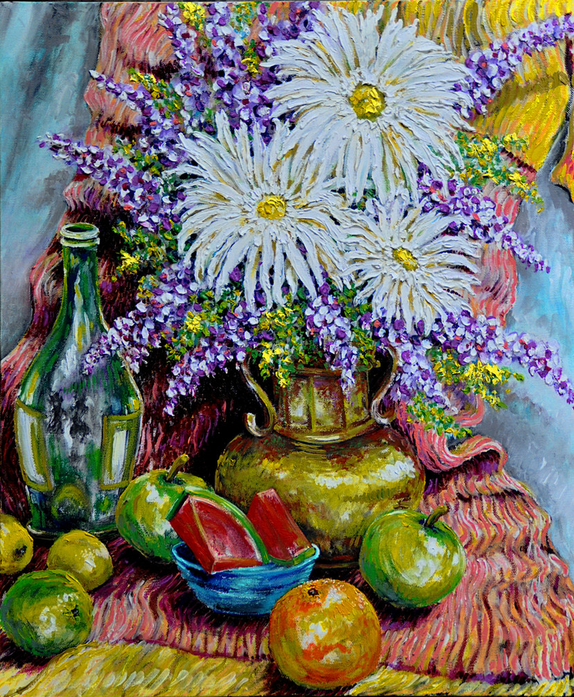 West Still Life $800, 20 x 24 in. Oil on Canvas