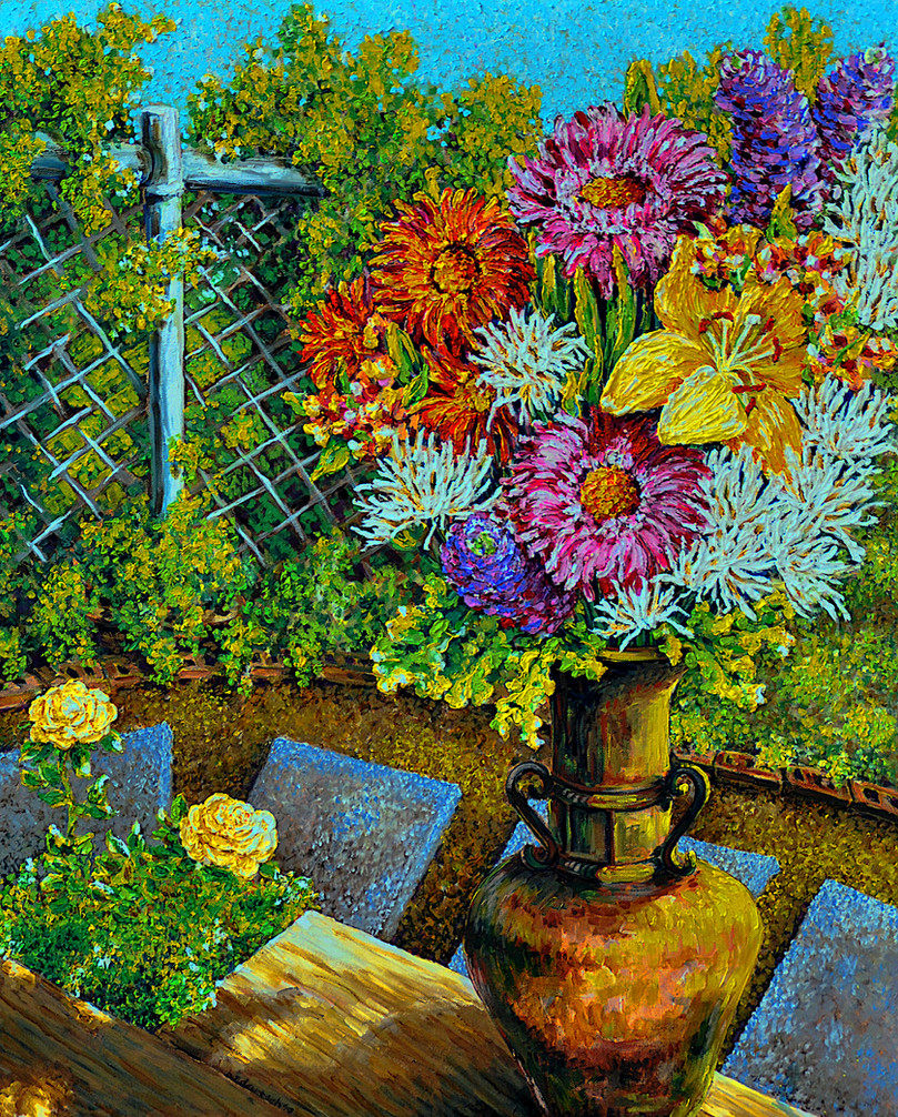 Self Gifting Bouquet $1,100 Oil on Canvas, 24 x 30 in.