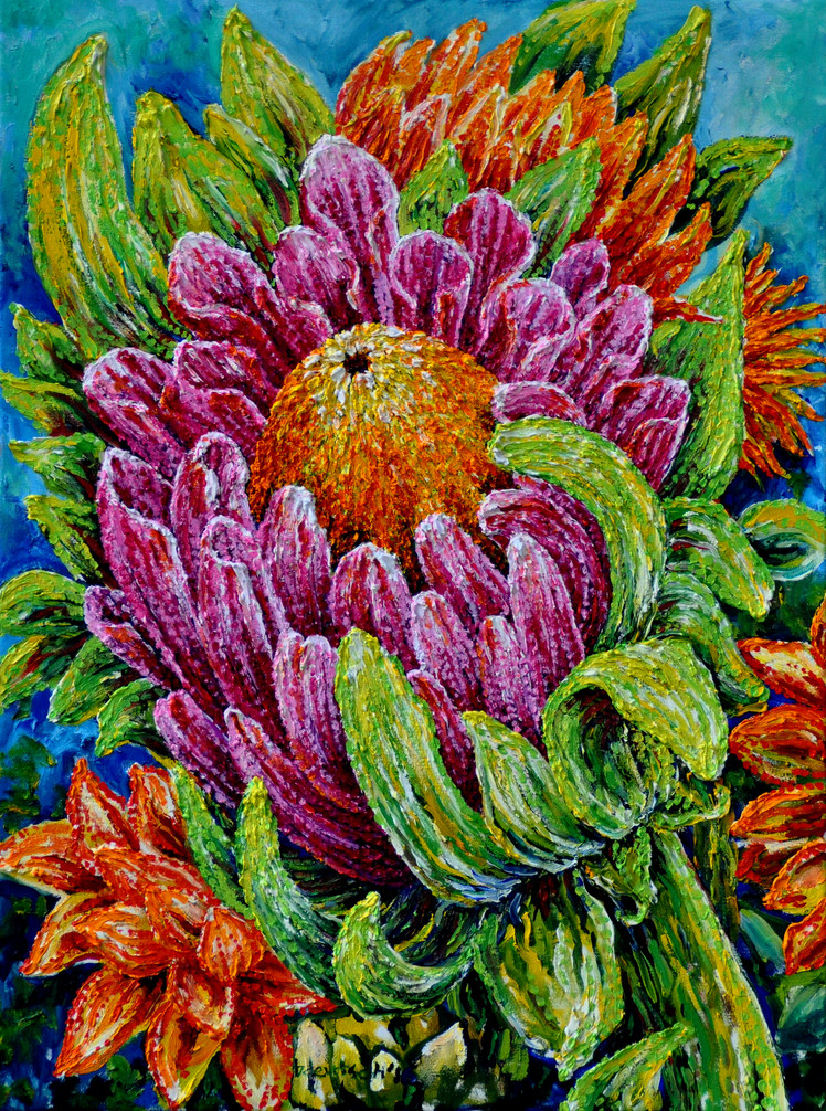 Exotic Bouquet $700, 18 x 24 Oil on Canvas