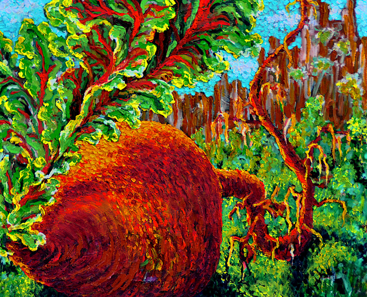 The Beet $800, 20 x 24 in. Oil on Canvas