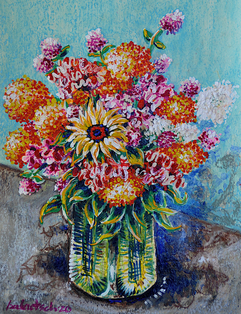 Summer Bouquet 20, $175, WC/Pastel