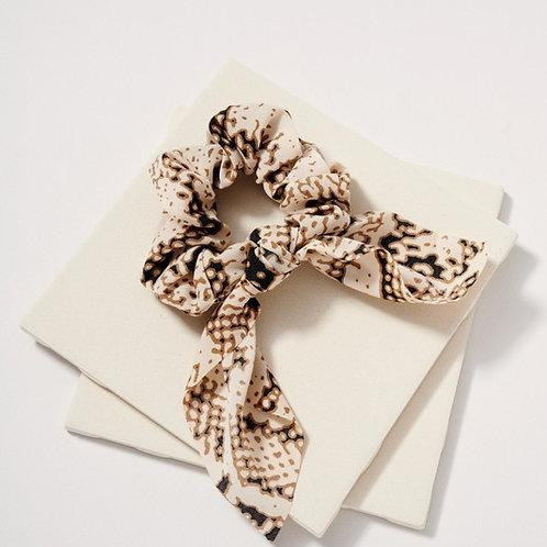 Brandi Snake Print Scrunchie