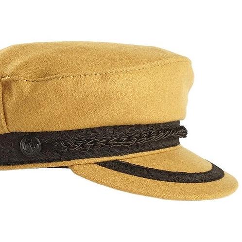 Brenna Wool Sailor Hat - Camel
