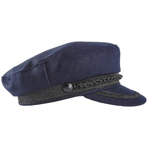 Brenna Wool Sailor Hat - Navy