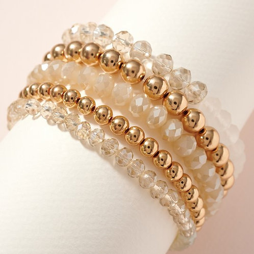 Sea Glass Stack Bracelet