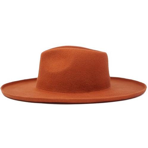 LENNY Wool Panama Hat - Rust