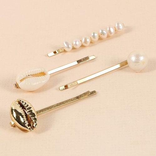 Coastal Chic Hair Pins - Set of 4