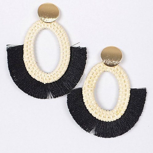 Ava Rattan Earrings