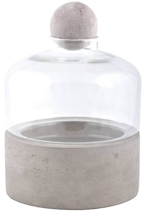 Bottle Terrarium with Base