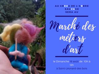 Marché des métiers d'art: Saint Léonard des bois 18 août