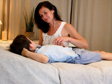 Séance de kinésiologie enfant