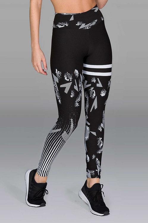 Legging d'entraînement noir assorti avec motifs
