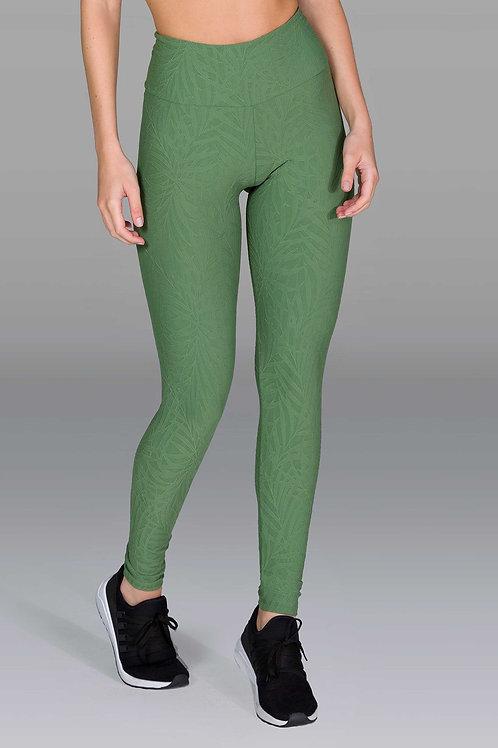 Legging d'entraînement vert texturé