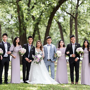 Emi and Linh's Receiving Line