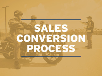 Sales Conversion Process for New Riders