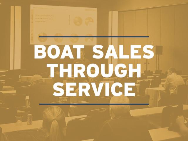 Boat Sales Through Service