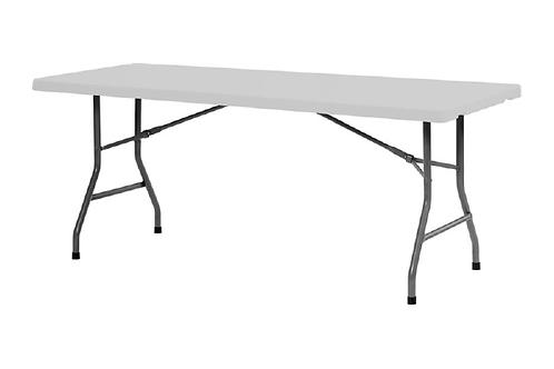 Plastbord, hvid / Plastic table, white