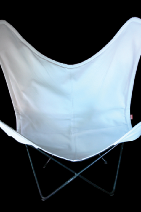 Orang stol, hvid skind / Orang chair, white leather