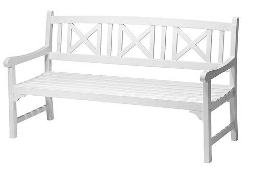 Havebænk, hvid / garden bench, white
