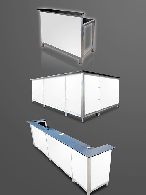 Klapbar, hvid, hjørnemodul / bar, white, corner module