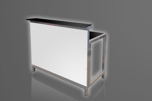 Klapbar, hvid, lige modul / Bar, white, straight module