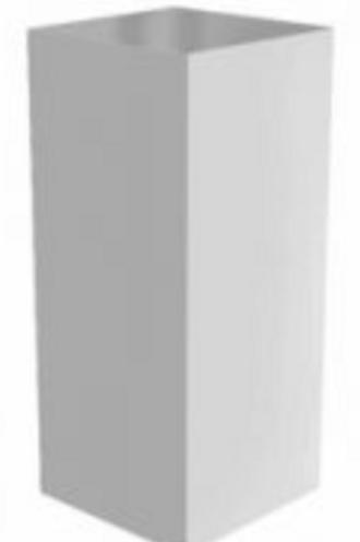 Deko stander, sprøjtelakeret 45x45x105 / deco stand, spray-painted 45x45x105