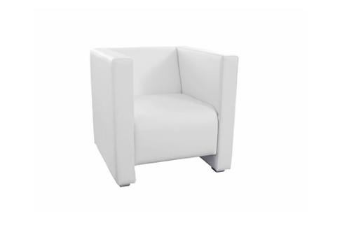 Lænestol Q1, hvid / Armchair Q1, white