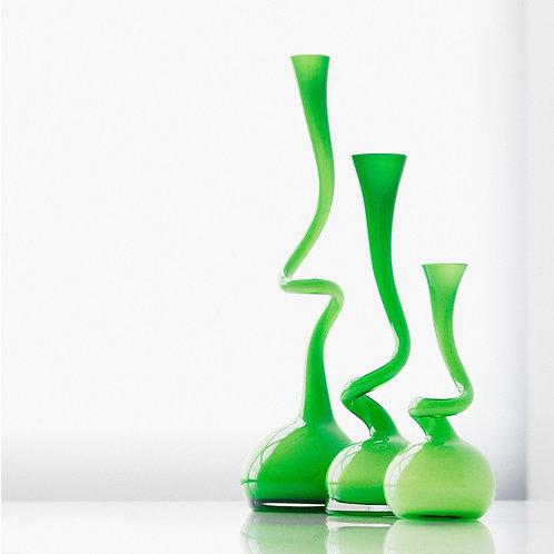 Normann vaser, grøn 3 størrelser / Normann vases, green 3 sizes