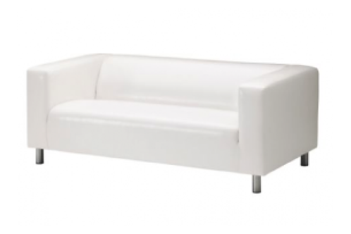 Lædersofa, hvid / Leather couch, white
