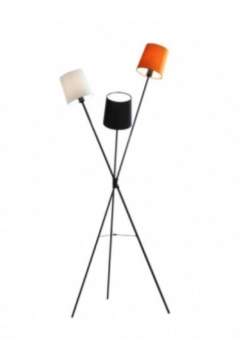 Retro gulvlampe m 3 skærme & farver / Retro floor lamp w. 3 lamp shades & colors