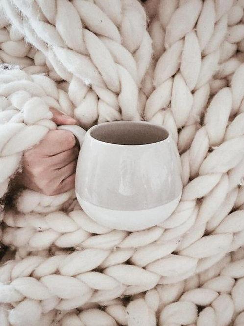 Uldplaid, råhvid / Wool blanket, off white