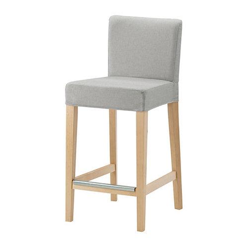 Barstol, grå, eg / bar stool, grey, oak