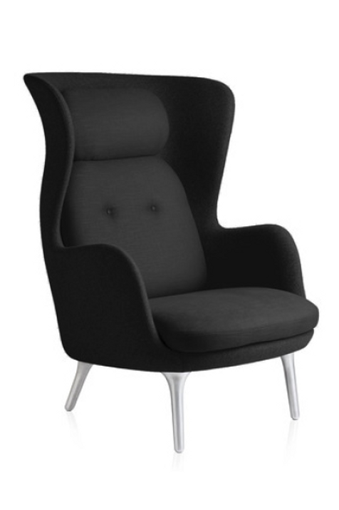 RO lænestol, sort / RO armchair, black