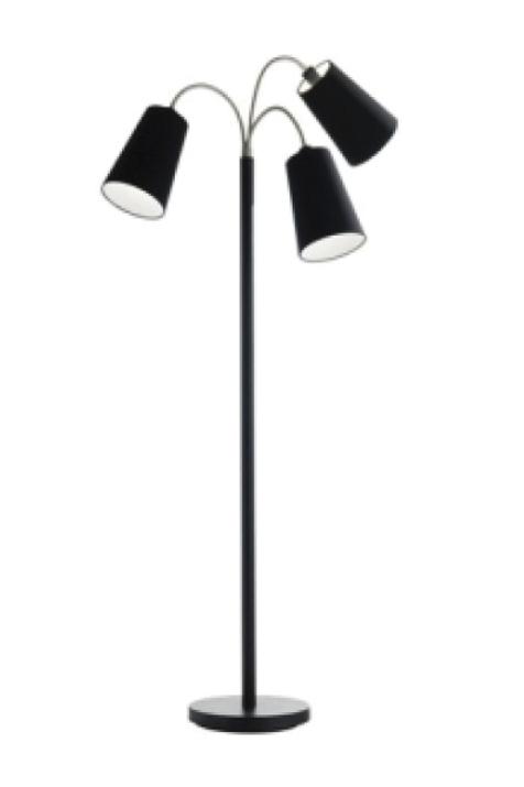 Retro gulvlampe m. 3 skærme / Retro floor lamp w. 3 lamp shades