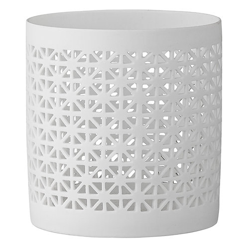 Fyrfadstage, stor, hvid porcelæn / Tealight, large, white porcelain