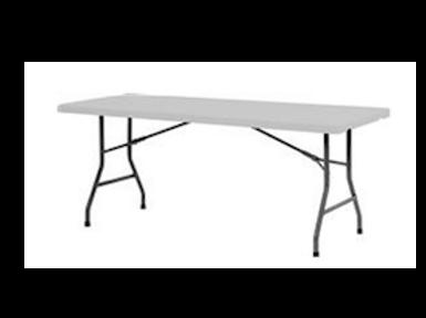 Plastbord, hvid ( US ) / Plastic table, white ( US )