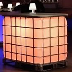 Palletank m. topplade & lys / Intermediate bulk container w. top plate & light