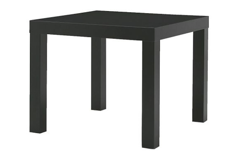 Square sidebord, sort / square side table, black