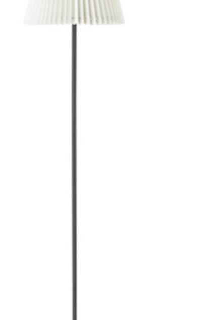 Gulvlampe, hvid foldeskærm / Floor lamp, white folding screen