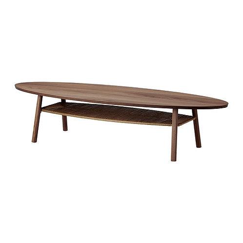 Sofabord, oval, valnøddetræsfiner / Coffee table, oval, walnut veneer