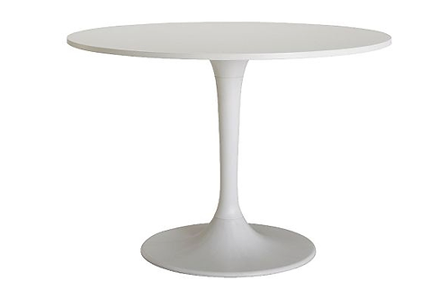 Rundt spisebord, hvid / Round dinner table, white