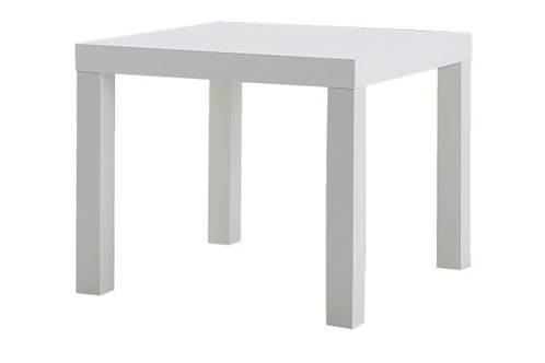 Square sidebord, hvid / square side table, white