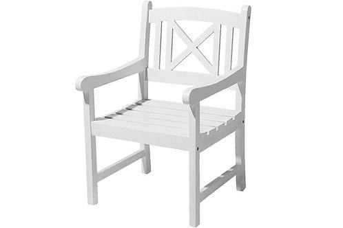 Havestol, hvid / garden chair, white