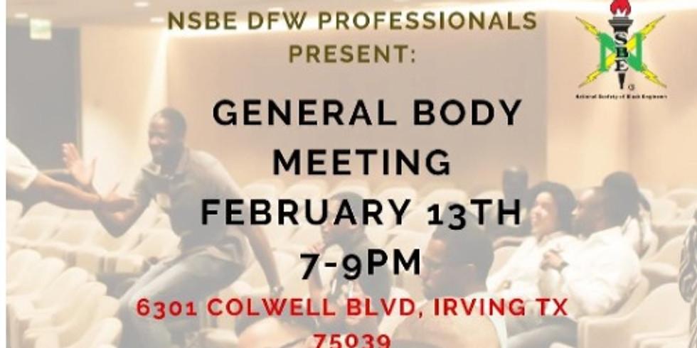 February General Body Meeting